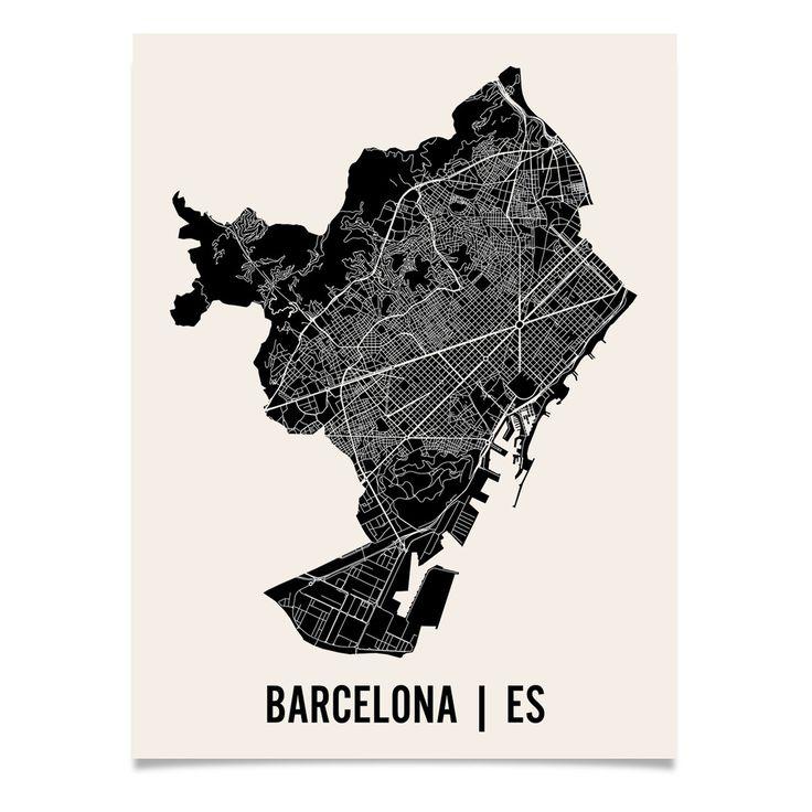 Barcelona Map Print 11 best Barcelona Map