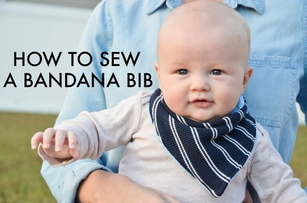 How to Sew a Bandana Bib - great sewing tutorial + pattern for even the beginner!