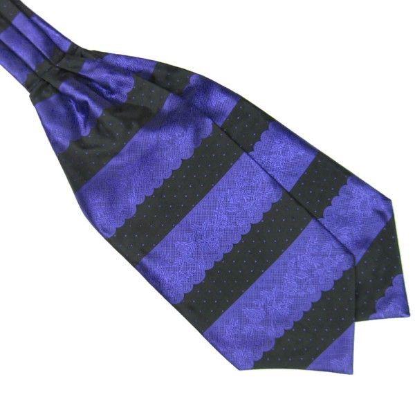 Stripes Long Silk ScarvesCravat Ascot Neck Ties Handkerchief