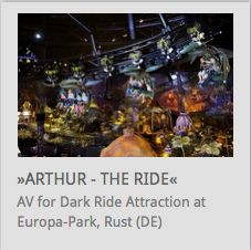 AV Systemintegration, Scenic Lighting for Dark Ride Attraction 'Arthur in the Minimoys Kingdom' @ EuropaPark Rust (Germany) // www.kraftwerk.at