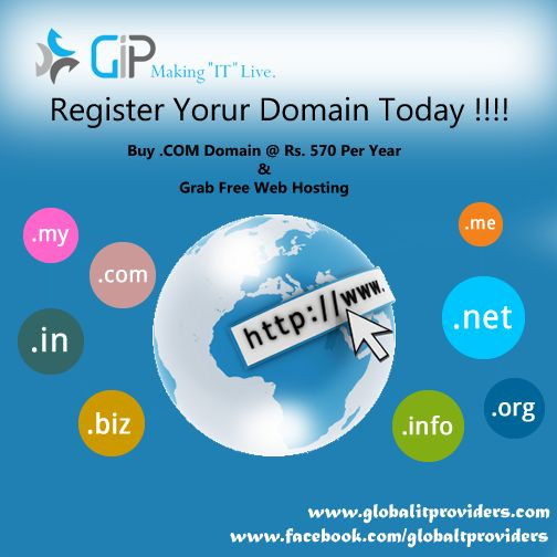 Get your domain registered today, using our #domainregistration service. Subscription starting @ Rs.570 per year.