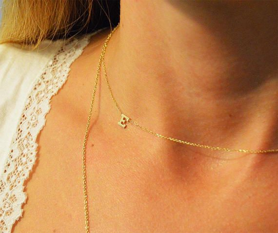 Check out this item in my Etsy shop https://www.etsy.com/listing/278415606/minimalist-initial-necklaceswomens
