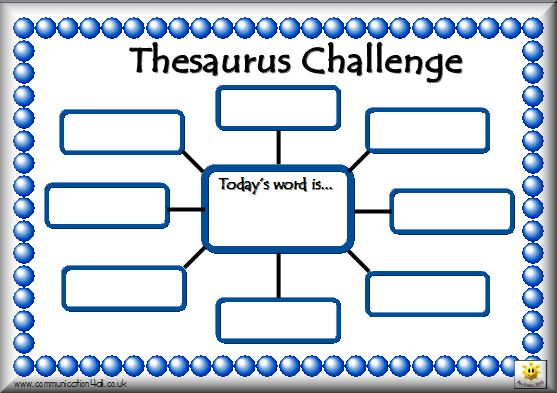 thesaurus challenge and other goodies