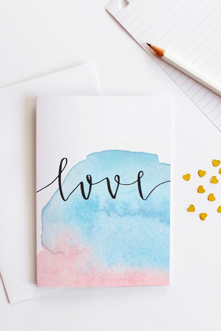 Как сделать акварельную открытку своими руками, картинки красивые