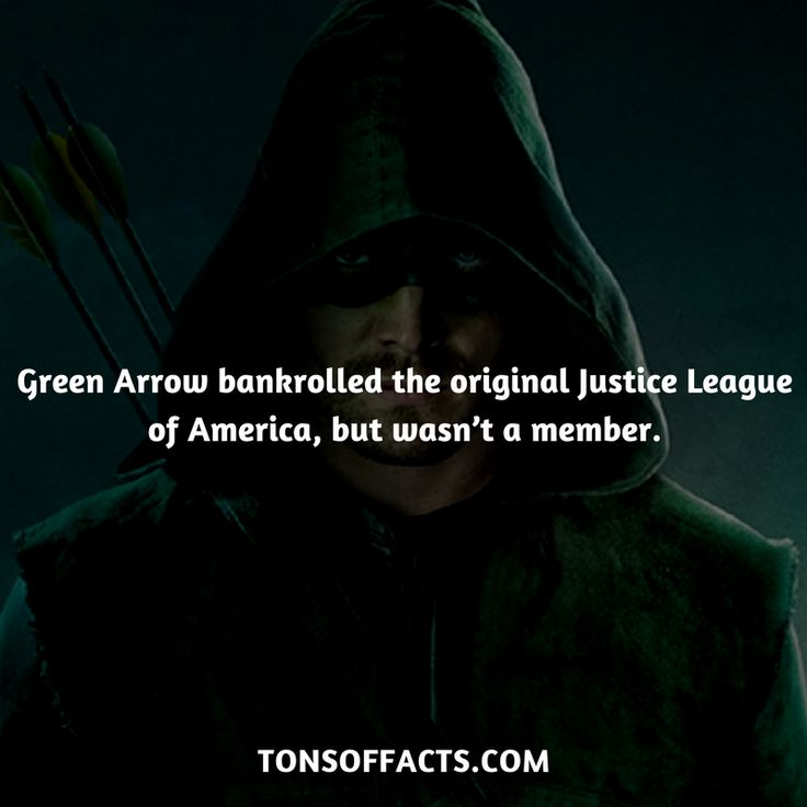 He bankrolled the original Justice League of America, but wasn't a member. #greenarrow #tvshow #justiceleague #comics #dccomics #interesting #fact #facts #trivia #superheroes #memes #1 #movies #oliverqueen