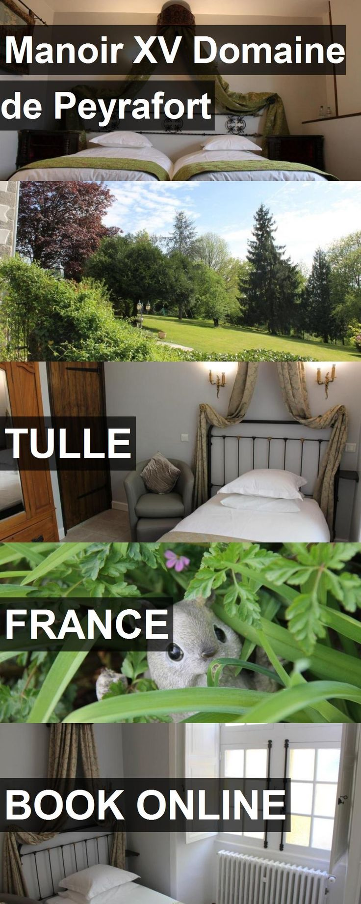Hotel Manoir XV Domaine de Peyrafort in Tulle, France. For more information, photos, reviews and best prices please follow the link. #France #Tulle #travel #vacation #hotel