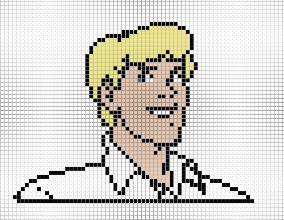 Fred Scooby-Doo perler bead pattern
