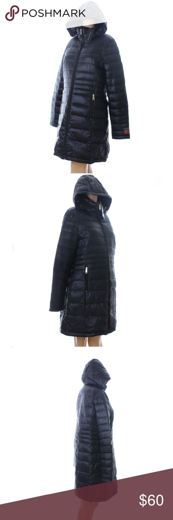 Andrew Marc Quilted Coat ✂️REDUCED✂️ Andrew Marc Quilted Coat.  Light Weight Premium Down.  Detachable hood with hood bag.  New with tag Andrew Marc Jackets & Coats