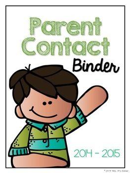 FREEBIE Parent Contact Log (Melonheadz Version)