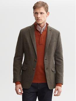 Heritage textured wool two-button blazer | Banana Republic