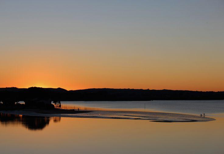 Sunset at Sandspit - Waiuku New Zealand