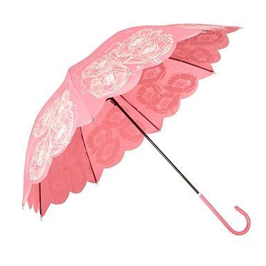 Pink poppy print umbrella - Umbrellas - Women -
