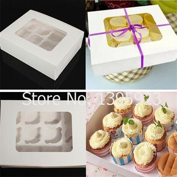 10 шт. сплошной цвет торт контейнер кекс бисквита кекс коробка 12 бумажные формы для кексов коробки упаковка бумага для упаковки свадьба душ