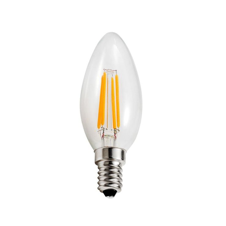 Nice Goodlite Watt LED Filament Candelabra Bulb Dimmable Torpedo Tip Equivalent W Incandescent Bulb