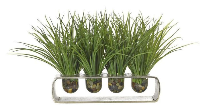 Grass, Green Sand Cast Aluminum Glass Vase