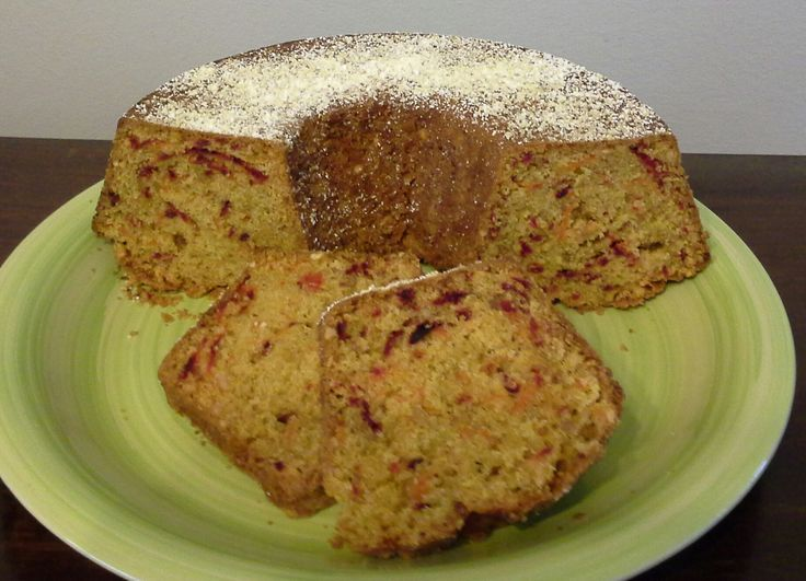 Beet, carrot, nuts and spices cake. Sounds crazy but so delicious.