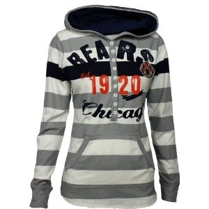 Amazon.com: Chicago Bears YAC Women's Striped Hoodie: Sports & Outdoors
