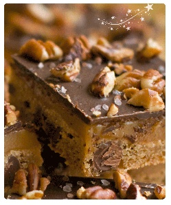 Chocolate Pecan Caramel Bars - Dove Chocolate Discoveries - DCD Recipe