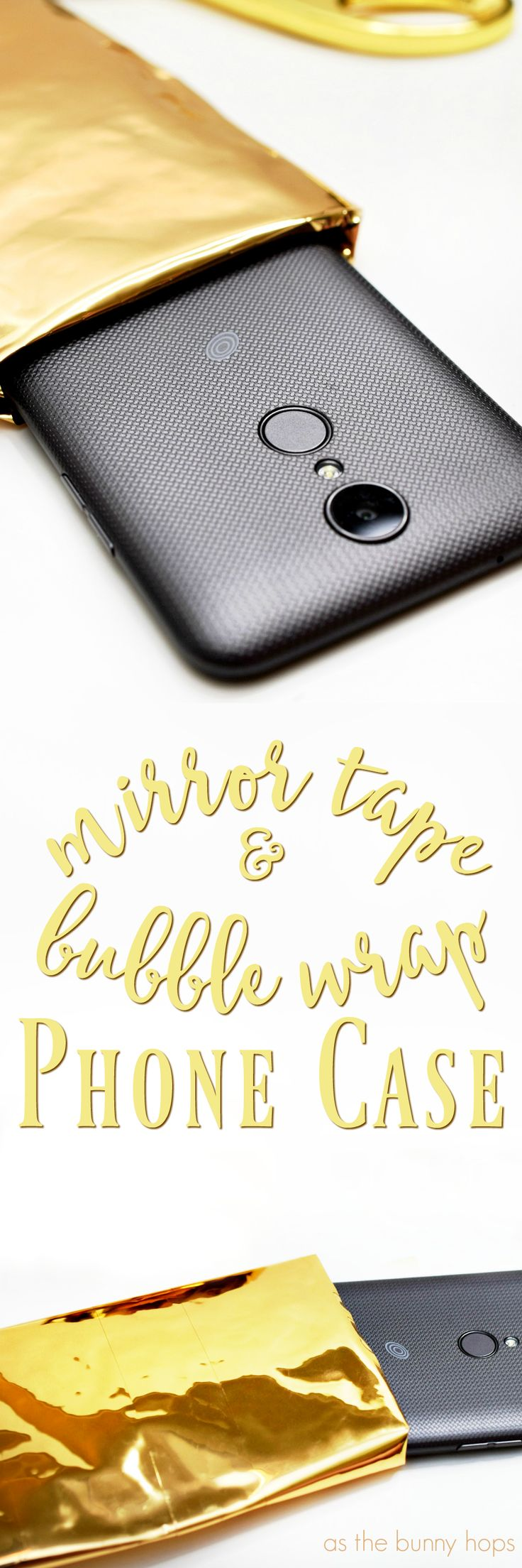 Need an easy way to protect your phone? Try this DIY Mirror Tape and Bubble Wrap phone case! #SummerIsForSavings #WFM4 AD