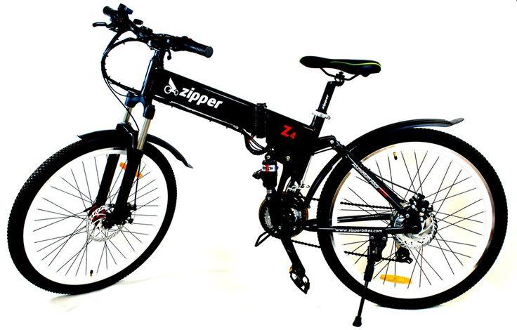 "Z4 21-Speed Folding Electric Mountain Bike 26"" - Black £679"