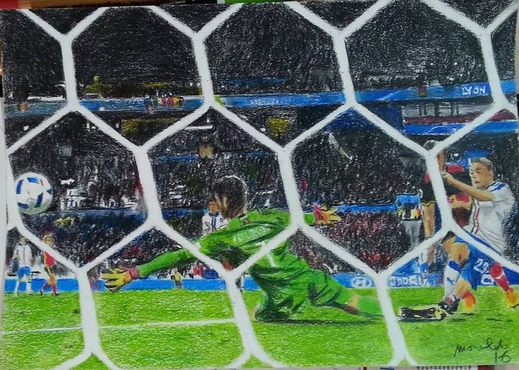 euro 2016 painting football by MoraldArt