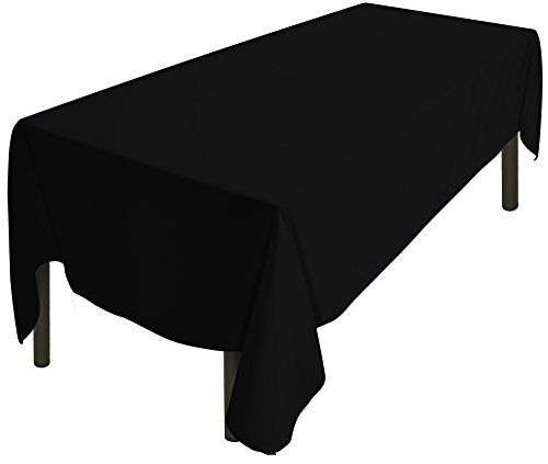 Tablecloth 60 x 126-Inch - Black Tablecloth - 100 Percent Polyester - Rectangular Table Cover - by Utopia Kitchen #Tablecloth #Inch #Black #Percent #Polyester #Rectangular #Table #Cover #Utopia #Kitchen