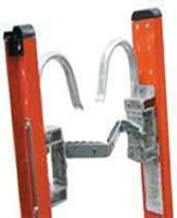 Example of top ladder securing brackets.