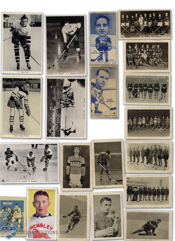 Image detail for -Vintage Hockey Cigarette Card Collection of 20