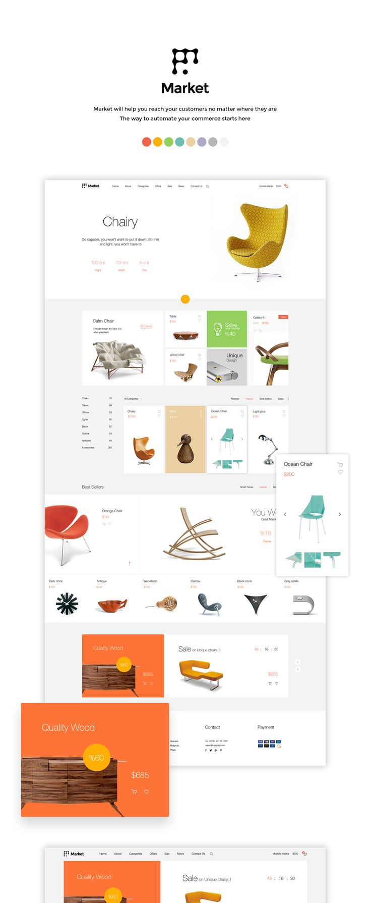 Market is an elegant online store solution on Behance