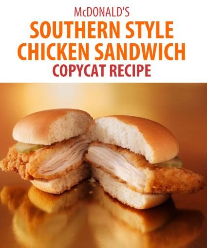 101 best fast food copycat recipes images on pinterest copy cat bring mcdonalds southern style chicken sandwich home with this copycat recipe youll love forumfinder Image collections