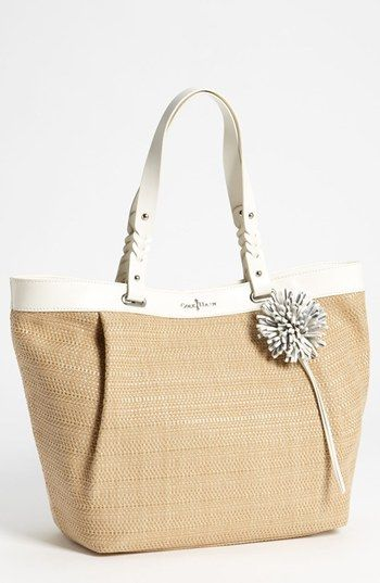 Cute straw tote! Cole Haan Bedford Tote