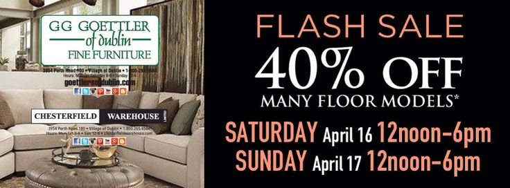 Flash Sale this Saturday April 16 and Sunday April 17 ONLY!
