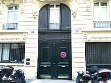 Apartment building where Jim Morrison died. 17–19 rue Beautreillis, 4th arrondissement) by Courson, Le Marais, Paris, France