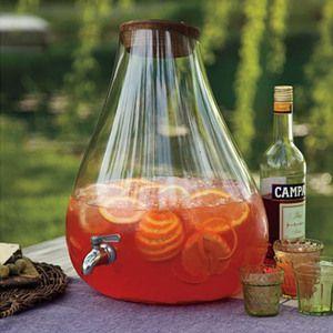 Banchetto Handblown Glass Drink Dispenser