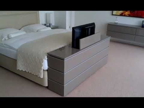 tv lift meubel aan voeteneinde bed youtube