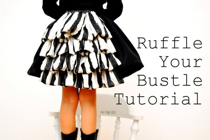 Ruffle Your Bustle Tutorial. Cute!: Girls, Skirts Tutorials, Idea, Big Dill, Bustle Skirts, Bustle Tutorials, Sewing Tutorials, Ruffles, Steampunk Outfits