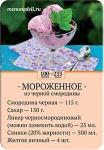 Карточка рецепта Мороженое из черной смородины