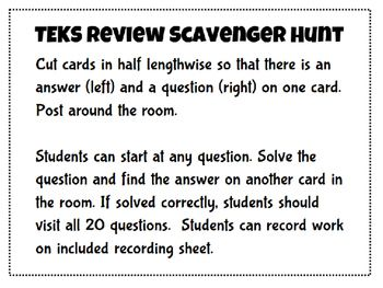 7th Grade Math Staar Review Packet on Math Staar Jeopardy 4th Grade