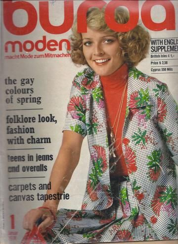 Burda Fashion Magazine 1976 January by FlashBackFashion for $12.00