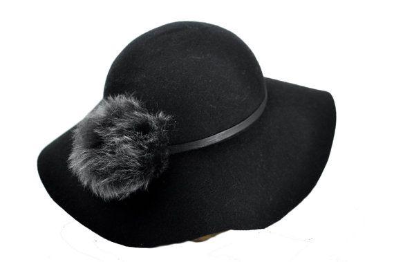Marta Wool Felt widebrimmed hat in Black by SOHODA on Etsy