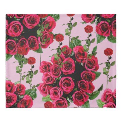 roses pink duvet cover - home gifts ideas decor special unique custom individual customized individualized