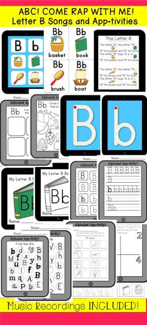 "Looking for a memorable way to teach your students their alphabet letter sounds? This package includes an original ""Letter B Rap"" and ""Letter B song"" recording for you to enjoy with your students. Within the Letter B Rap are opportunities for students to echo letter sounds for effective reinforcement. Also included is a 10 page iPad inspired individual student booklet for learning the letter sound ""B"""