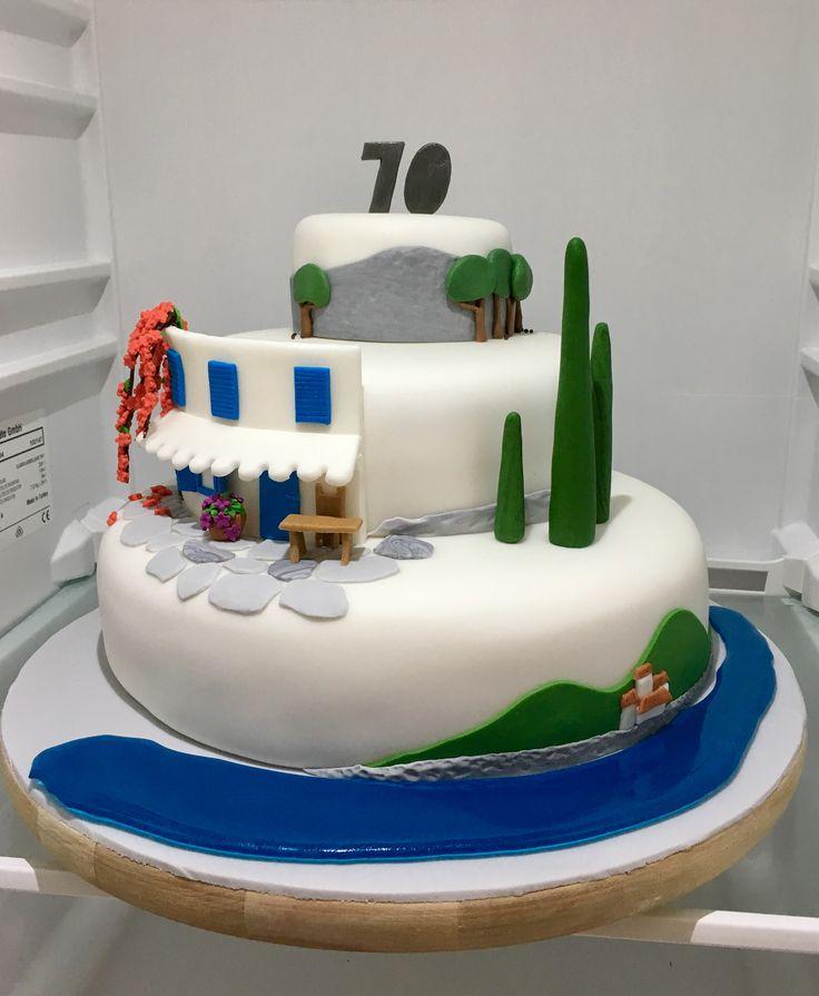 Greece Birthday Cake