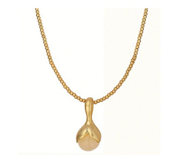 Buttercup short necklace Yellow Aventurine worn gold. £52