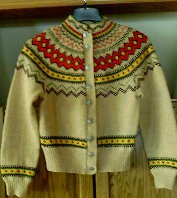 Vintage Norwegian Norway Sweater Women's Medium Pewter Buttons | eBay