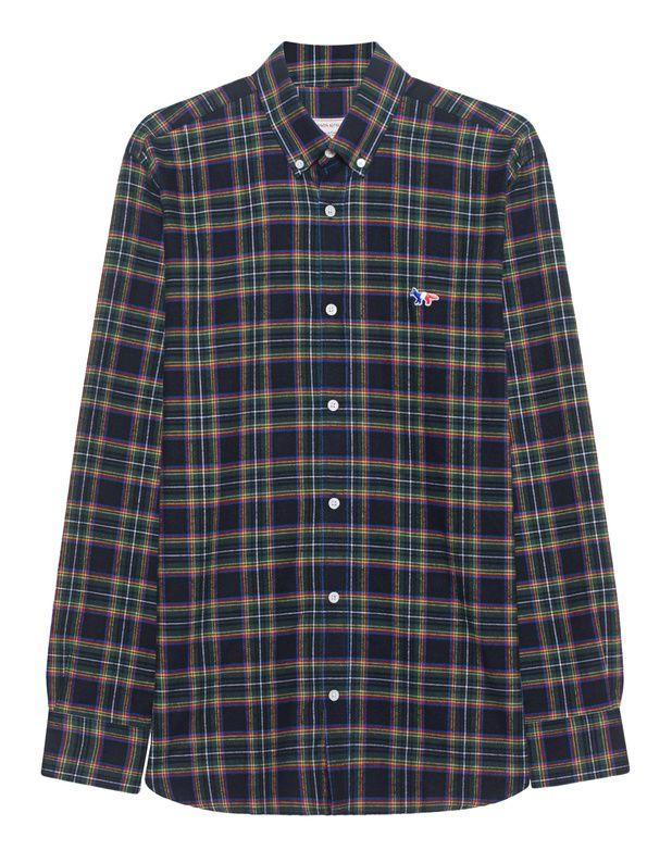 Kariertes Baumwoll-Hemd Das gerade geschnittene grün-blau karierte Hemd ist aus weicher Baumwolle gefertigt und kommt mit Button-Down-Kragen und kleinem Patch auf der Brust.  Cooler Easy-Chic für jeden Tag!