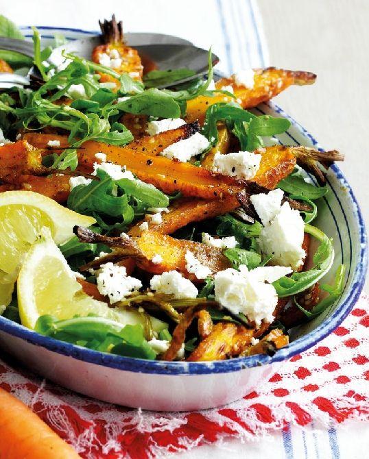 Low FODMAP Recipe and Gluten Free Recipe - Spiced roast carrot & feta salad