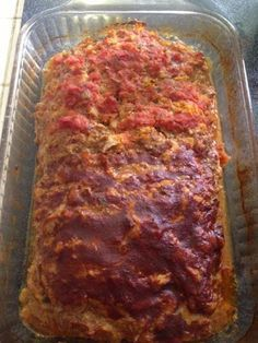2lbs burger, 2 cups crushed tortilla chips, 1 can rotel, 1/4 cup taco seasoning, 2 eggs, 1 cup shredded. Cheese= awesome Mexican/Taco meatloaf