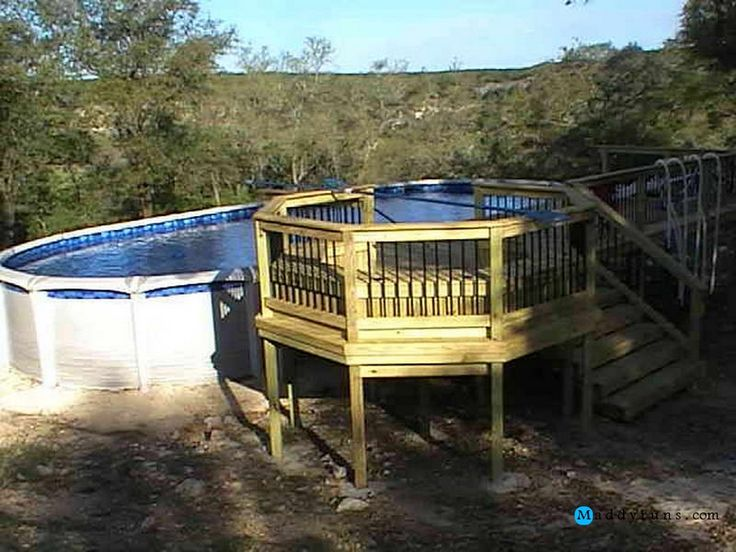 Swimming pool house ideas beauteous deck plans for above ground pool stairs steps with - Above ground pool steps for decks ...