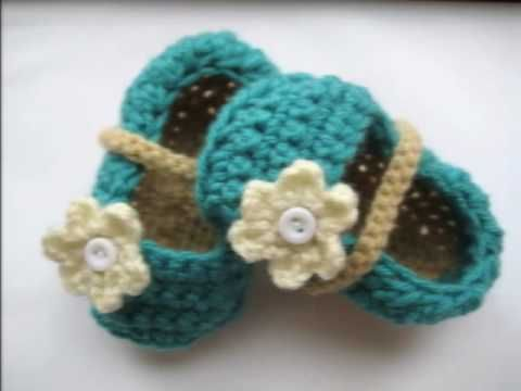 Crochet baby booties 2
